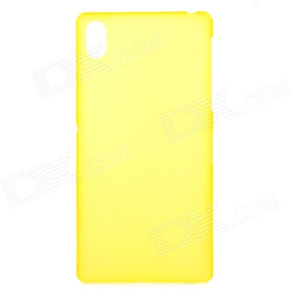 Ultra-thin 0.33mm Protective PP Back Case for Sony Xperia Z2 L50W - Yellow cbr human friends speed rate glam all in one micro ms m2 sd t flash ms duo mmc sdhc dv ms pro ms ms pro duo usb 2 0