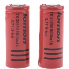 Lomon A-04R 3.7V 700mAh Rechargeable 26650 Lithium Ion Batteries - Red (2 PCS)