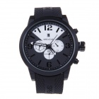 SPEATAK SP9042G Men's Decorative 3-Dial Quartz Analog Wristwatch - Black + White (1 x LR626)