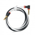 3.5mm Male to 3.5mm Male Audio / Car AUX / Earphone Cable - White + Black + Red (120cm)