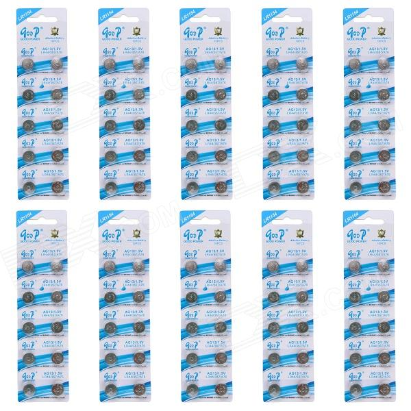 GOOP CM01 AG13 / LR44 / 357 / A76 1.5V Alkaline Cell Button Batteries (100 PCS) accell lr44 a76 1 5v alkaline cell button battery 10 pcs
