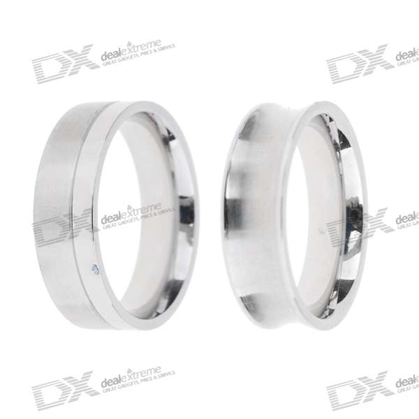 Daires Titanium Steel Couple's Rings (Pair)