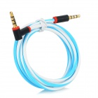 3.5mm Male to 3.5mm Male Audio / Car AUX / Earphone Cable - White + Blue + Black (116cm)
