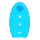 GEL-QRC003 Siliconne Protective Key Chain Cover for Nissan - Light Blue + White
