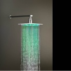 SHENDING LD8030-A1 RGB LED Rainfall Shower Sprayer - Silver