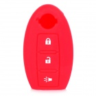 GEL-QRC002 Siliconne Protective Key Chain Cover for Nissan - Red + White