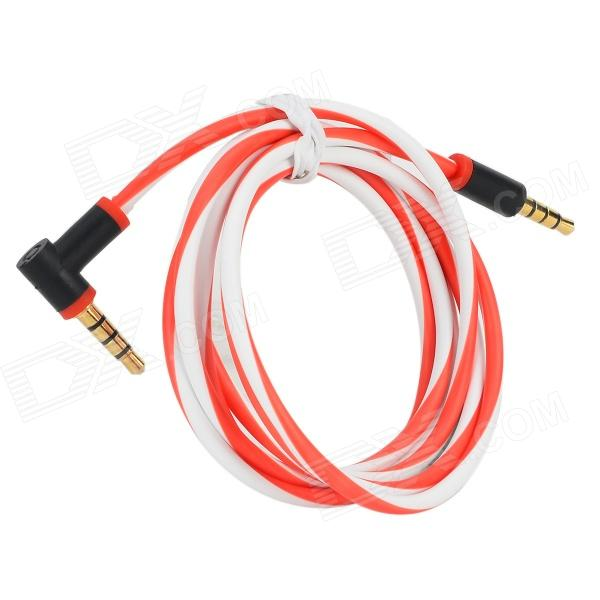 3.5mm Male to 3.5mm Male Audio / Car AUX / Earphone Cable - Red + White + Black (120cm)