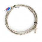 K Type Probe M6 x 5mm Temperature Sensor Cable - Silver (197cm)
