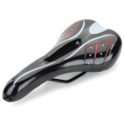Leather Bicycle / Bike Seat Pad Saddle - Black + Red + White