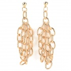 ER-5304 Women's Punk Style Zinc Alloy Chain Earrings - Golden