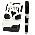 3D Fashion Ghost Devil Head Style Silicone Back Case for IPHONE 5 / 5S - Silvery White + Black