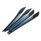 YI-279 3M Automotive Anti-bump Rubber Car Body Adhesive Strips - BLack + Blue (4 PCS)