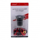 Jtron Motorcycle Handlebar 2.1A Dual USB Lighter Charger - Black (DC 12~24V)