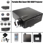 MO.MAT MOONSUN Portable FHD LED Mini Home Projector w/ HDMI / VAG / USB 2.0 / AV / SD -  Black