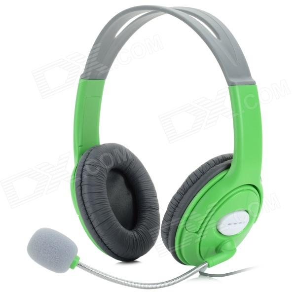 Professional Game Headphone w/ Microphone for XBOX360 / XBOX360 E / Slim - Black + GreenOther Accessories<br>Form ColorGreen + GreyBrandN/AModelN/AQuantity1 DX.PCM.Model.AttributeModel.UnitMaterialABSShade Of ColorGreenCompatible ModelsXBOX 360,XBOX 360 SlimPacking List1 x Headphone (cable length: 120cm)<br>