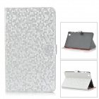 Protective PC + PU Flip Open Case w/ Stand for 8.4'' Samsung T320 - Silver