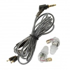 Moxpad X3 In-Ear Earphone w/ Mic. for IPHONE + HTC + More - Translucent White (3.5mm Jack / 135cm)