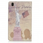 Statue of Liberty Pattern Stylish Protective Flip Open PC + PU Case w/ Stand for 8.4'' Samsung T320