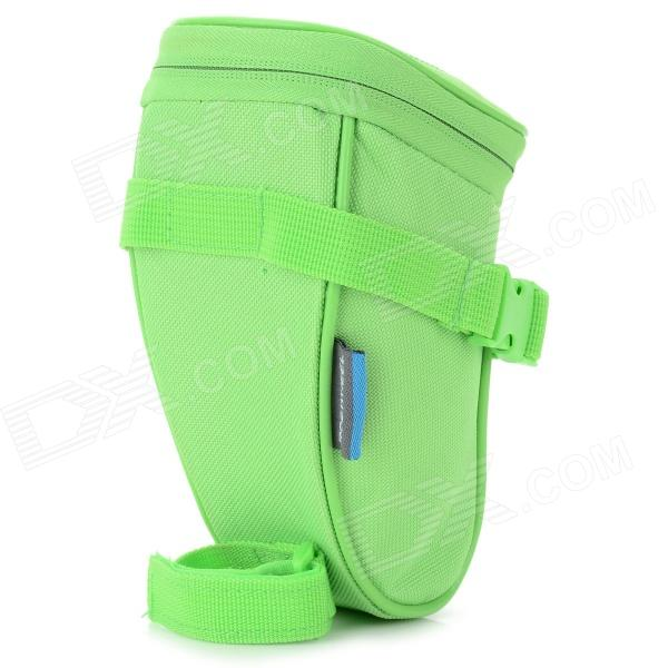 ROSWHEEL Outdoor Cycling Bicycle Bike Saddle Seat Bag - Green roswheel mtb bike bag 10l full waterproof bicycle saddle bag mountain bike rear seat bag cycling tail bag bicycle accessories