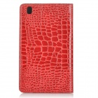 Alligator Style Protective Flip Open PC + PU Case w/ Stand for 8.4'' Samsung T320 - Red