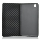 Alligator Style Protective Flip Open PC + PU Case w/ Stand for 8.4'' Samsung T320 - Grey