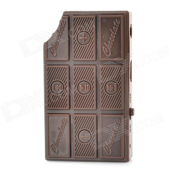Fun Portable Chocolate Style MP3 w/ TF - Brown (8 GB Max.)