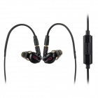 Moxpad X3 In-Ear Earphone w/ Mic. for IPHONE + HTC + More - Black (3.5mm Jack / 135cm)