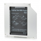 9.5mm SATA 3.0 Aluminum Second HDD Frame for Laptop - Silver + Black
