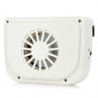 WIN-01110A Solar Powered Car Air Vent Cooling Fan - White