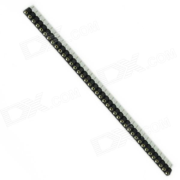Copper 40Pin 2.54mm Female Socket Hole - Black + White