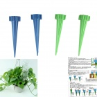 Lazy Bones Essential Plants Drinking Fountains Waterers Watering Kits - Green + Dark Blue (4 PCS)