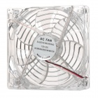 Replacement DC 12V 12cm PC Case Fan w/ Protective Grill / Blue LED - Transparent