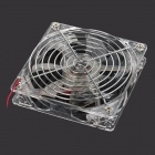 Reemplazo DC Case Fan 12V 12cm PC w / Rejilla Protectora / Blue LED - Transparente
