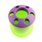 Creative Seven-Hole Toothbrushes / Toothpaste Holder - Green + Purple
