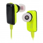 KUBITE K-899 Portable Sports In-ear Bluetooth V4.0 Earphone w/ Mic - Grass Green + Black