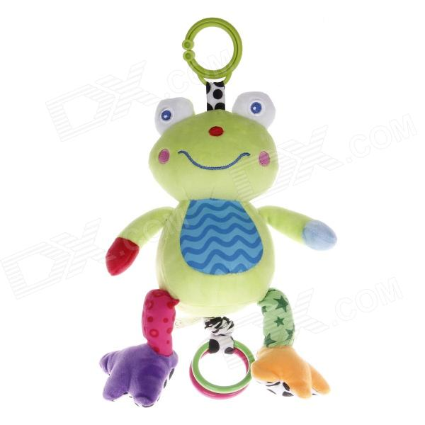 Safe Cute Frog Style Music Drawstring Doll - Green + Blue baby stroller high landscape can sit and lie trolley high quality folding baby cart children s pram
