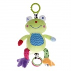 Safe Cute Frog Style Music Drawstring Doll - Green + Blue
