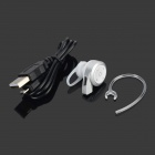 1-to-2 Bluetooth V4.0 Stereo Headset w/ Caller ID Voice Prompt - Silver + White