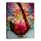 "Iarts DX0613-07 Hand-painted ""Red Wine to the Bottle"" Oil Painting - Red + Blue (60 x 80cm)"
