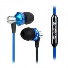 AWEI S950vi In-Ear Earphone w/ Mic. for Samsung Galaxy Cell Phone - Blue + Black ( 3.5mm / 120cm)