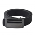 Men' s Fashion Casual PU Leather Wild Belt w/ Zinc Alloy Buckle - Black (110cm)