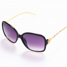 BD4012 Women's Retro Style UV400 Protection PC + High Nickel Alloy Frame PC Lens Sunglasses - Black