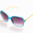 BD4012 Women's Retro Style UV400 Protection PC + High Nickel Alloy Frame PC Lens Sunglasses - Blue