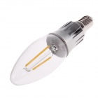 QIGUAN K307 E14 1.8W 220lm 3000K LED Warm White Light Filament Bulb - Transparent + Silver (AC 220V)