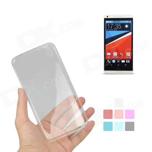 Angibabe Protective 0.45mm Ultra Thin Clear TPU Back Case for HTC Desire 816 - White