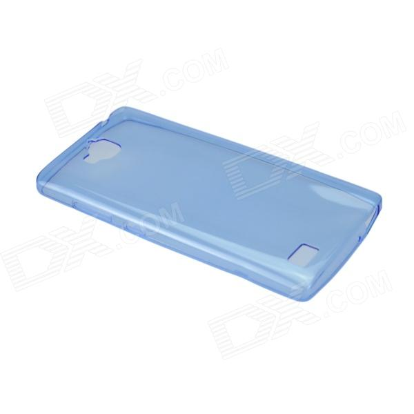 Angibabe Protective 0.45mm Ultra Thin Clear TPU Back Case for HUAWEI H30-T00 / HONOR 3C - Blue