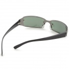 Fashionable Zinc Alloy Frame Resin Lens UV400 Protection Sunglasses - Black
