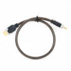 D-9005B HDMI V1.4 Male to Male 1080P HD Shielded PC-TV Connective Cable - Translucent Brown + Black