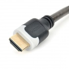 D-9005B HDMI V1.4 macho a macho 1080P HD Blindado PC-TV Cable conectivo - Translucent Brown + Negro