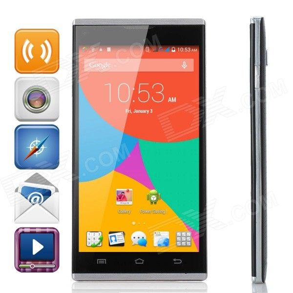 Blackview Crown 5 MTK6592 1.7G Octa-Core Android 4.4 WCDMA Cellphone w/ 2GB RAM / GPS / FM - Black